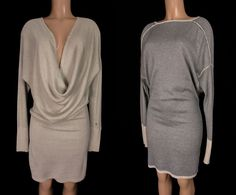 LULULEMON Serenity Dress Size M Medium Cashew Gray Bamboo Cashmere Wrap Sweater #Lululemon #SkirtsSkortsDresses