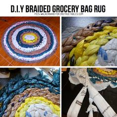 DIY Braided Grocery Bag  or as I would refer to as the �quot�Uncle Bud Rug�quot�.