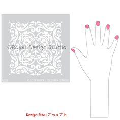 Stenciling Furniture for DIY Home Decor and Decorating - Royal Design Studio Tile Stencils and Damask Stencils