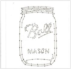 Mason jar numbered template for string art you can resize this to fit your project create your favorite string art with yarn twine string or embroidery thread drill holes first then nail in nails for straight uniform nails diy masonjar mason jar stringart String Art Templates, String Art Patterns, Mason Jar Crafts, Mason Jar Diy, Twine Crafts, Decor Crafts, Diy Crafts, Wood Crafts, String Art Diy