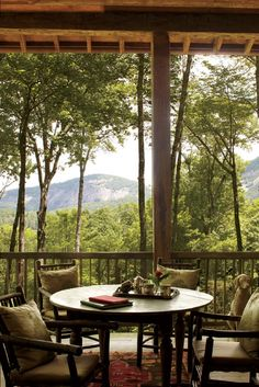 Grand porch and view in Cashiers, North Carolina