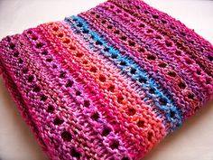 Scarf pattern [readjust pattern to make baby blanket] | Jawbreaker by Amanda Reed