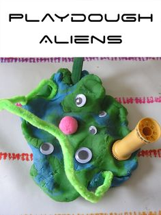 World Space Week Activities for Toddlers and Preschooler making Aliens