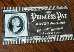 Vintage Princess Pat Rayon Hairnet with Coupon 1930s, Vintage Hairnet from the 30s, Rayon Hair Net by EmptyNestVintage on Etsy