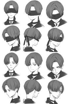 Image about nier automata in ɴɪᴇʀ: ᴀᴜᴛᴏᴍᴀᴛᴀ by ad astra Anime Drawings Sketches, Cool Art Drawings, Anime Sketch, Anime Character Drawing, Character Art, Drawing Male Hair, Drawing Hair Tutorial, Anime Boy Hair, Pelo Anime