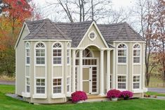 The Grand Portico #Mansion Amish Made #Kids Outdoor #Playhouse Kit - Playhouses - Playtime! - Kids - $8,219.00