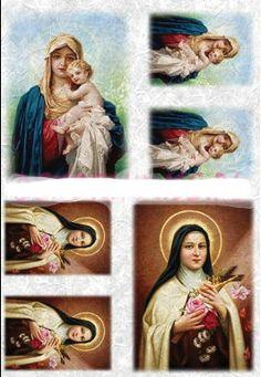 Papier ryżowy Kalit do decoupage spi0018 Madonna Papier ryżowy - sklep DecoupageArt.pl