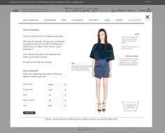 TopShop's size calculator - put in your measurements and it suggests a size