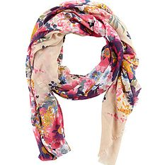 always believed scarves can be worn all year long. this floral print is so adorbs for spring... $22... worth it?!