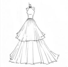 Dessiner Une Robe De Mariee Beautiful Ideas Pinterest Drawing