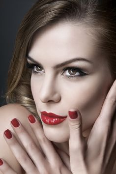 red nails and red lips #makeup