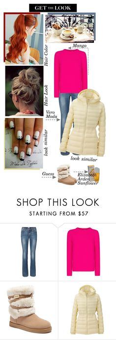 """Get the Look of Me - Outfit of the day"" by fashionqueen76 ❤ liked on Polyvore featuring Vero Moda, MANGO, GUESS, Uniqlo and Elizabeth Arden"