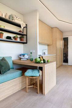 Container Home Prototype by Greece-based Cocoon Modules Tiny House Movement // Tiny Living // Tiny House on Wheels // Tiny House Workspace // Tiny Home Desk // Tiny Home // Architecture // Home Decor Container Architecture, Container Home Designs, 40 Container, Shipping Container Interior, Shipping Container Homes, Shipping Containers, Tiny House Movement, Modern Modular Homes, Light Hardwood Floors
