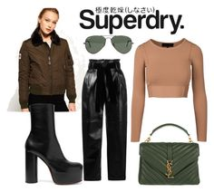 """The Cover Up – Jackets by Superdry: Contest Entry"" by ralugoii on Polyvore featuring Superdry, Ray-Ban, Philosophy di Lorenzo Serafini, Vetements and Yves Saint Laurent"
