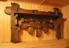 """Вешалка из дерева под старину """"Живица"""""""