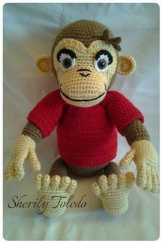 CHIMP GEORGE - Crochet creation by Sherily Toledo's Talents