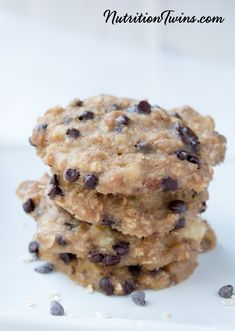 5-Ingredient Microwave Peanut Butter Chocolate Chip Cookies | Super Easy to Make | Ready in Minutes! | Healthy, Lightened Up Comfort Food | Only 88 Calories Each | Watch the easy video | For MORE RECIPES, fitness & nutrition tips please SIGN UP for our FREE NEWSLETTER www.NutritionTwins.com