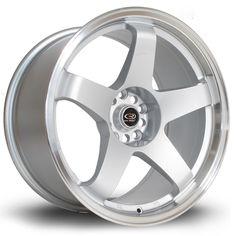 18 ROTA GTR SILVER 9.5J 5 stud 30 offset alloy wheels