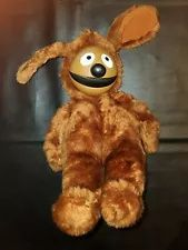 "Vintage 1989 Muppets Jim Henson Sitting Rowlf Vinyl Face Plush 11.5"" RARE"