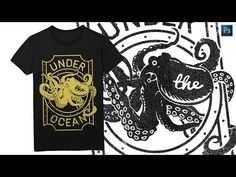How To Design a T-shirt Graphic Using Photoshop - Photoshop Tutorial - YouTube