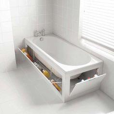 Clevere #Badewanne für mehr #Aufbewahrung :)