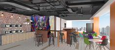 A nova sede da Conecta Serviços, realizada pela Arealis Brasil !  3D da sala de relaxação  #architetura #corporativa #architecture #corporate
