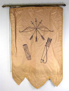Vintage Antique IOOF Odd Fellows 1st Degree Embroidered Silk Banner | eBay