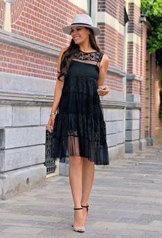 Zara Dresses and Zara Heels / Wedges Total Black, Photomontage, Audrey Hepburn, Summer Outfits, Casual Outfits, Summer Dresses, Love Fashion, Fashion Show, Zara Dresses