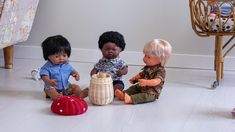 The advertisement has been designed to communicate the key values of Miniland, namely that this multi-racial dolls range helps children develop the social sk. Wholesale Toys, Handmade Clothes, Social Skills, Educational Toys, Commercial, Product Launch, Nursery, Make It Yourself, Dolls