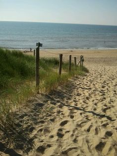 Katwijk. The Netherlanda. Nortsea beach.
