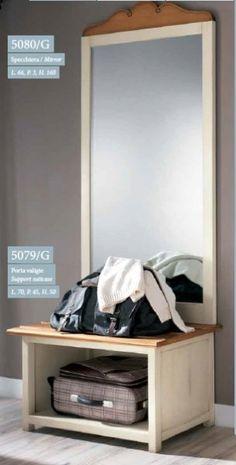 Veliké zámecké zrcadlo, dřevěný rám (lze i hnědé) Home Board, Bench, Storage, Furniture, Home Decor, Purse Storage, Decoration Home, Room Decor, Larger