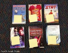 NEW BOOK BUZZ~  Quick, easy way to get students excited about new books.  After a quick book talk, set books out for kids to look at.  Students interested in a book put their name on the Post It.  At the end of the day, one name is randomly chosen and that child gets the book, first.  The Post It goes inside the cover, and gets passed to the next child on the list as students finish reading the book.  Great way to build excitement about reading!