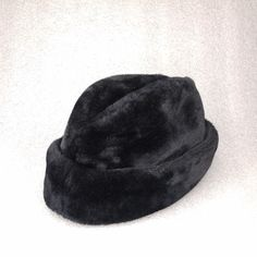 fc786bedb430d7 Vintage Black Faux Fur Cossack Hat Mens Winter Quilted Lining Wool Ear Flap  | Clothing,