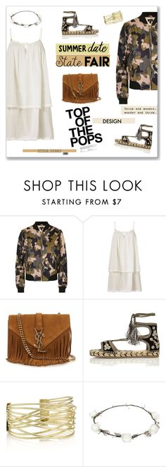 """""""Summer date: State Fair <3"""" by aryana-280 ❤ liked on Polyvore featuring Topshop, Heidi Klein, Yves Saint Laurent, River Island, Mulberry, Lipsy, armyjacket, statefair, polyvoreeditorial and summerdate"""
