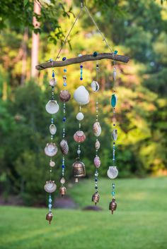 Pretty wind chime made with sea shells found on the beach :)