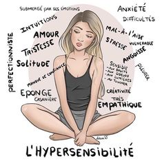 image with text & image with text _ image with text design _ image with text overlay Highly Sensitive Person, French Quotes, Bad Mood, Mbti, Positive Attitude, Motivation, Adolescence, Self Help, Self Love