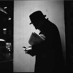 "Vivian Maier, ""Man's Silhouette"" Chicago 1968"