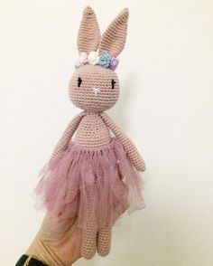 """58 Likes, 5 Comments - @by_frk_toft on Instagram: """"Lille ballerina  efter opskrift af @vibemai  #crochet #bunny #ballerinabunny #bunnycrochet…"""""""