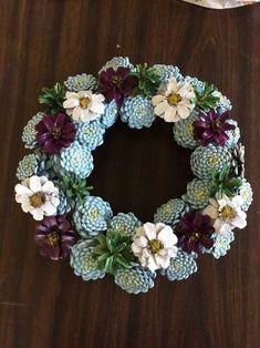 Erin's pine cone wreath