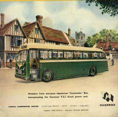 Commer TS3 Bus Art, Power Unit, Bus Coach, Bus Travel, Bus Stop, Public Transport, Vintage Cars, Transportation, Nostalgia