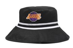 8388f78461d LA Lakers Bucket Black Hats Stripe White