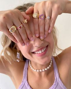 Nail Jewelry, Cute Jewelry, Jewelry Accessories, Jewlery, Nail Ring, Jolie Lingerie, Cute Rings, Bling, Fashion Outfits
