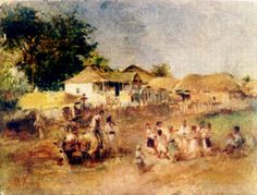 Copii Jucand Hora by Theodor Aman Europe, 1 Decembrie, Painting, Wikimedia Commons, Dan, Kunst, Painting Art, Paintings, Painted Canvas