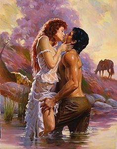 Romance Book Cover Illustrations by Max Ginsburg - AmO Images - AmO Images Romance Novel Covers, Romance Books, Art Et Illustration, Illustrations, Romance Arte, Art Romantique, Romantic Paintings, Creation Photo, Red Sonja
