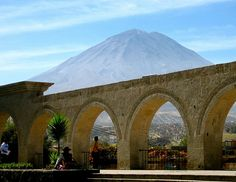 El Mirador de Yanahuara, Arequipa overlooking volcano Misti  This is seriously two blocks from my house.