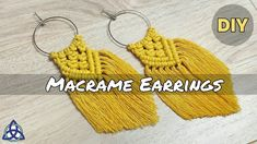 Most recent Pictures Macrame diy jewelry Ideas DIY Macrame Earrings Tutorial, Earring Tutorial, Bracelet Tutorial, Macrame Knots, Micro Macrame, Diy Boucle D'oreille, Jewelry Crafts, Handmade Jewelry, Jewelry Ideas