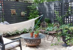 What if you stopped thinking of your backyard as a tiny bit of lawn, trapped by a fence, and instead began thinking of it as an outdoor room, with dirt for a floor and the sky for a ceiling