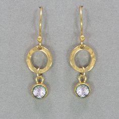 Holly Yashi Bonita Drop Earrings - Blush/Gold