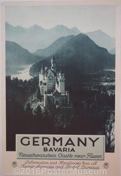 Germany travel poster. Circa 1935. Original.