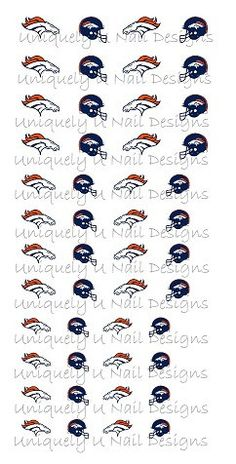 Denver Bronco Nail Decals by XtremeBling on Etsy